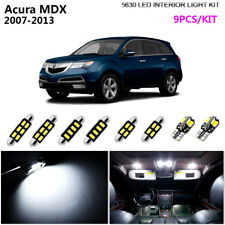 9Bulbs Xenon White 6000K LED Interior Dome Light Kit Fit Fit 2007-2013 Acura MDX