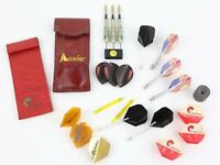 Vintage Accudart Competition Dart Set 20g Extra Flights 1986 Unicorn with case