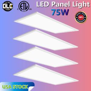 4Pack 2x4' LED Panel Celling Light Troffer Edge-Lit Flat 75W 5000K 7800 Lumens