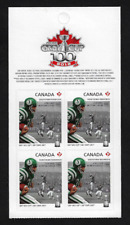 Canada -Pane of 4 (Half Booklet) -100th Grey Cup: Saskatchewan Roughriders #2572