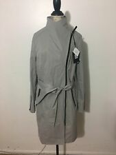 NWT Women's MACKAGE Estela Belted Trench Coat, Large, Mineral