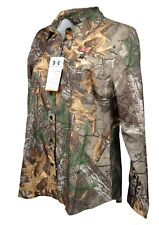 Under Armour Performance Button Down Shirt Realtree Xtra Womens Sz L 1253209-946