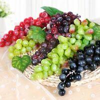 5PCS Artificial Fruit Fake Food Plastic Lifelike Grapes Bunch Home Wedding Decor