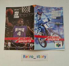 Nintendo 64 N64 Jeremy Mc Grath Supercross 2000 Notice / Instruction Manual