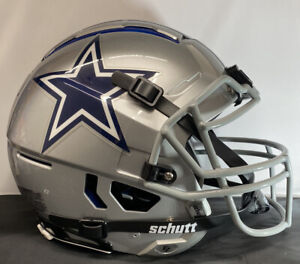 Dallas Cowboys Custom Full Size Authentic Schutt F7 Football Helmet Silver NEW!