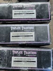 Mth Tinplate Traditions (2) 94 High Tension And 92 Flood Light