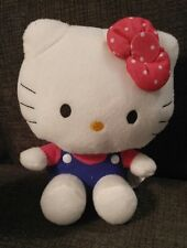 "Sanrio Megatoys Plush Hello Kitty 7"" Blue/Red Jumper"