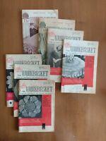 Workbasket Needlecraft Magazines - 1959-1960 Lot Of 7 - Crochet Tatting Knitting