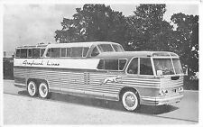 c1950 Greyhound Scenicruiser Bus Postcard
