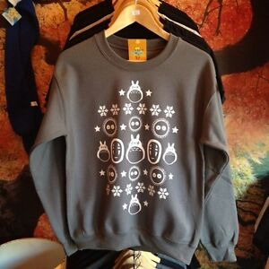 Totoro Spirited Away No Face Soot Sprite Star Inspired Christmas Jumper Sweater
