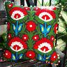 "Christmas Indian Decor Suzani Pillow/Cushion Cases Embroidered Square 16"" Uzbek"