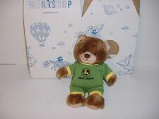 NEW John Deere Build A Bear Brown Teddy Bear Cub W/JD Green Outfit W/Box!