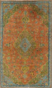 Overdyed Semi-Antique Ardakan Oriental Area Rug Evenly Low Pile Hand-knotted 5x8