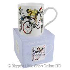 Neuf porcelaine fine cyclisme mug/tasse par julia crochet sports & hobbies collection giftbox