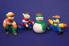 Mr Christmas Replacement Part -Santa's Ski Slope - 4 Decorative Figures