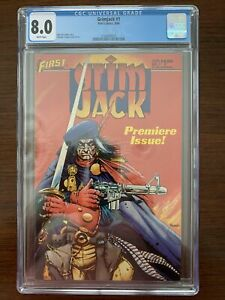 Grimjack #1 CGC 8.0 (First Comics 1985)  White pages.  Great cover.  Key!