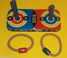 Metal Ring Toss 1950s Wooden Posts & Rope Rings! Nice Board Game See!