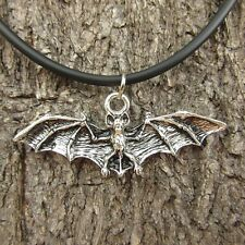 E48 BAT PEWTER VAMPIRE WOMEN PENDANT WING MEN PUNK NECKLACE DARK UNISEX JEWELRY