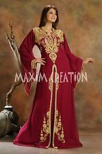 TURKISH WEDDING GOWN DIAMONDE LUXE KAFTAN JALABIYA JILBAB GENIE COSTUME 3471