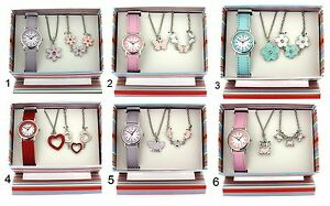 The Olivia Collection Girls Watch & Jewellery kids Children's Birthday Gift Set