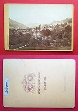 altes CdV Hartkarton Foto BERCHTESGADEN um 1880/90 Ortsansicht Watzmann ( F16555