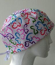 Swirly Tieback Scrub/theatre caps/hats with sweatband Doctors/Nurses/Vets/ODP