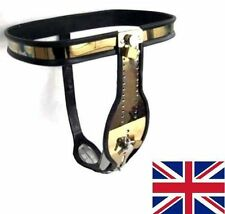 Full Male Chastity Belt Device Gold Stainless Steel Heavy Duty 65 - 110 cm