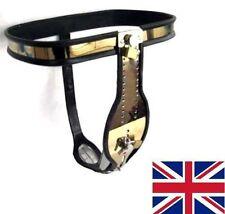 COMPLETO di Sesso Maschile Castità Cintura Dispositivo Acciaio Inox Oro Heavy Duty 65 - 110 cm