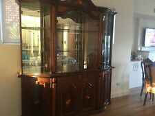 Two Piece Solid Wood Glass Cabinet