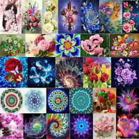 Flower Painting Embroidery 5D Full Drill Diamond DIY Mosaic Cross Stitch Kit