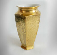 Bernardaud and Co Limoges vase with full gold design  FREE SHIPPING
