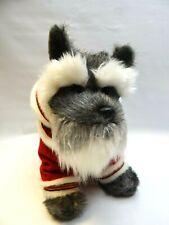 Standard Miniature Schnauzer Christmas Plush Stuffed Animal Barks Jingle Bells