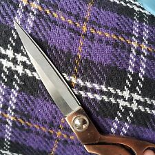 3m Scottish heavy tartan wool fabric,material ideal for coats  150cm wide