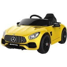 Auto Macchina Elettrica per Bambini Mercedes AMG GT 12V Colore Giallo 2 Motori