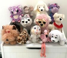 Soft Toy Teddy Bundle X 12 Plush Yoohoo Hapee Panda Dogs Thumper Rolly Cuddly