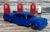 "VTG '59 Diecast TOOTSIETOY 3"" 1957 Plymouth 2-Door Sedan Blue Body (BPW) Beauty!"