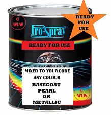 1 LT READY FOR USE BASECOAT COLOUR 2K 2 PACK MIXED TO CODE CAR PAINT