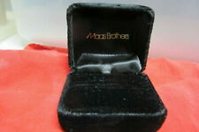 Vintage Black Plush  Ring Box