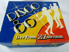 New listing Vintage Emerson Disco 80 flashing light portable record player phonograph(works)