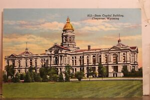 Wyoming WY Cheyenne State Capitol Building Postcard Old Vintage Card View Postal