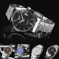 New Mens Watch Stainless Steel Band Date Analog Quartz Sport Wrist Watch Army ZH