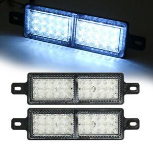 2x White 30 LED Front Indicator Park Lights TJM Bullbar Marker Lamp ARB Bar 12V