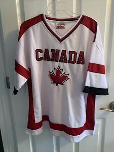Team Canada Hockey Jersey White Maple Leaf Women's Or Youth