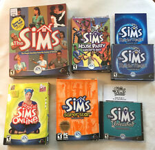 (Lot of 6) The SIMS 1 Original Game + 5 Expansion Packs & Keys -Most with Boxes!