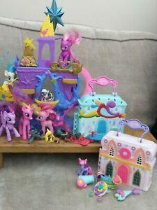 My little pony bundle/castle dolls house horse ponies job lot/girls toys