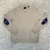SCOTCH & SODA Mens Sweatshirt Medium Beige Merino Wool Jumper *