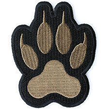 Embroidered Bear Paw Print Sew or Iron on Patch Biker Patch