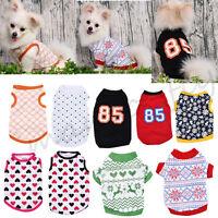 Various Pet Puppy Small Dog Cat Summer Clothes Dress Vest T Shirt Apparel S-XL