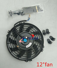 12 inch ELECTRIC RADIATOR slim Cooling THERMO FAN Universal and MOUNTING KITS