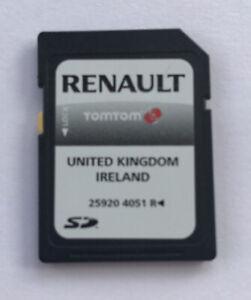 GENUINE RENAULT TOMTOM CARMINAT SAT NAV NAVIGATION SD UK & IRE 259204051R